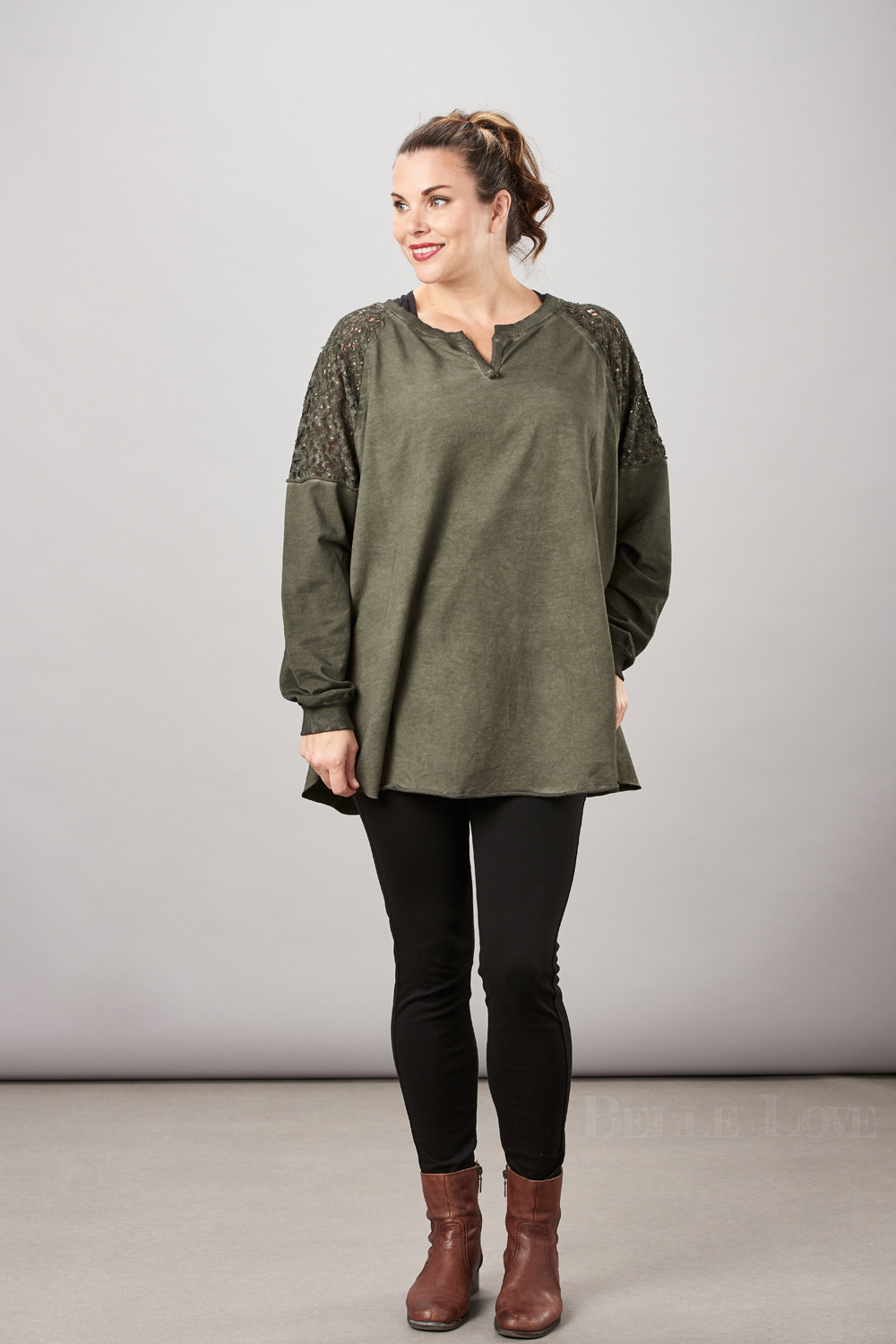 Belle Love Italy Sequin Lace Top