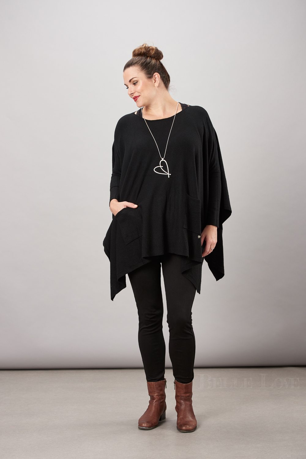Belle Love Italy Oversize Two Pocket Poncho