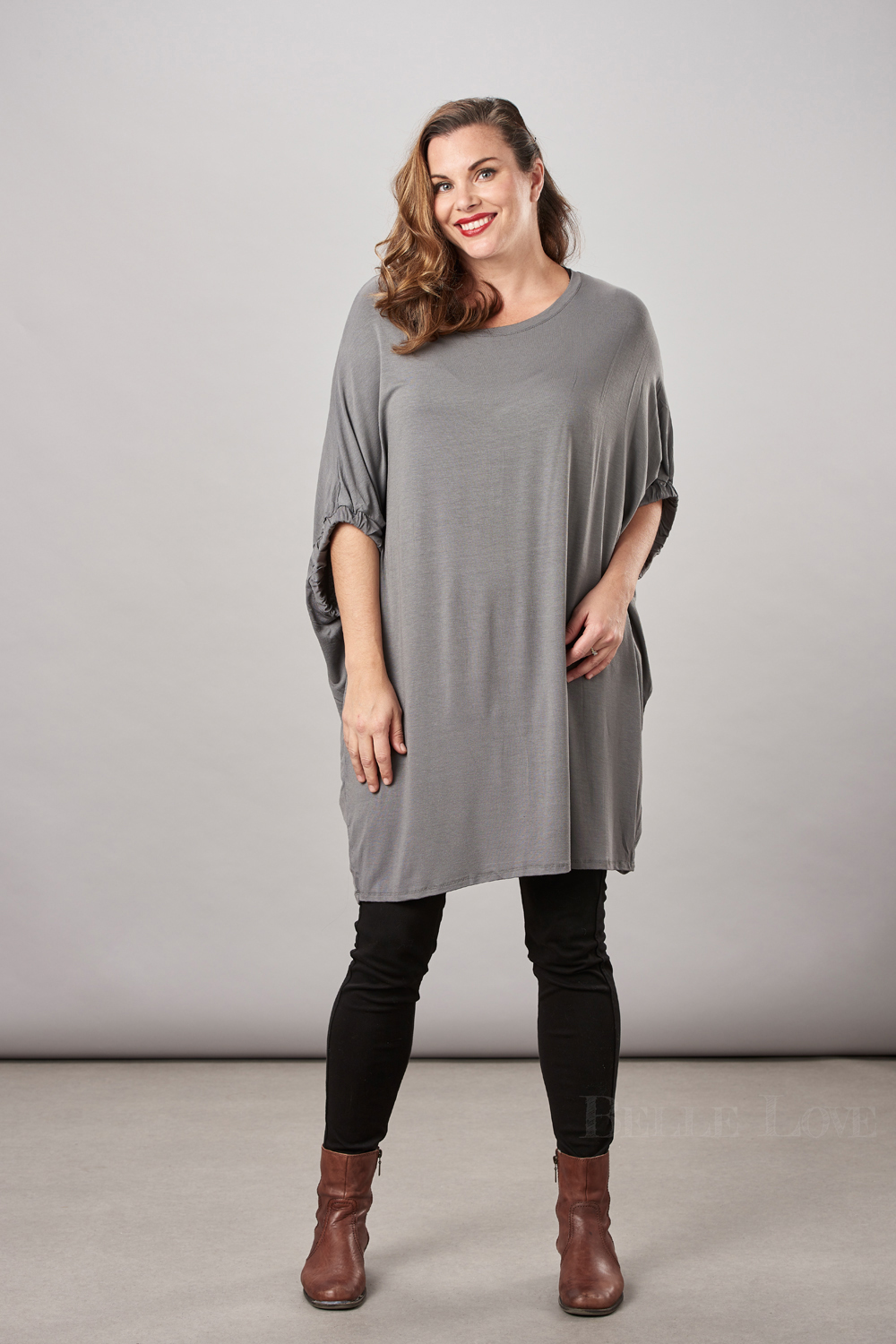 Belle Love Italy Oversize Jersey Top
