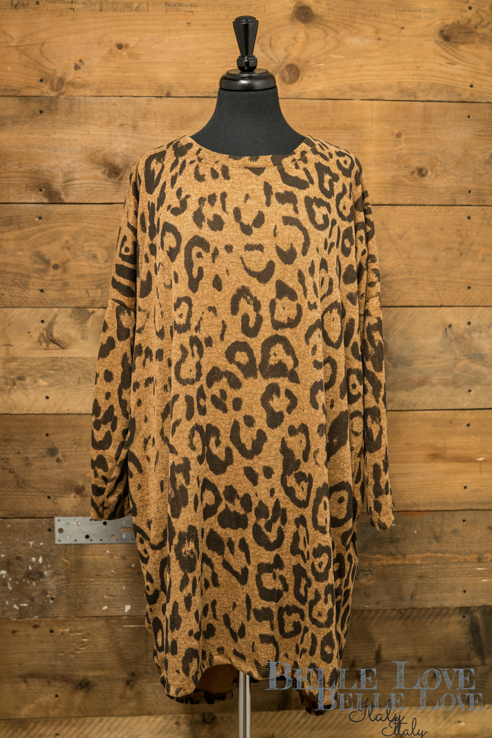 Belle Love Italy Leopard Print Tunic