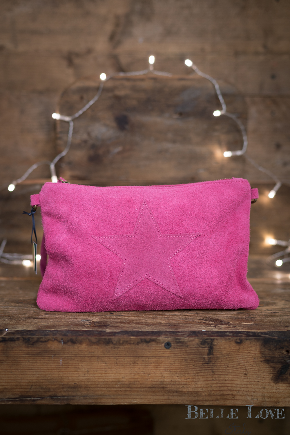 Belle Love Italy Star Suede Bag