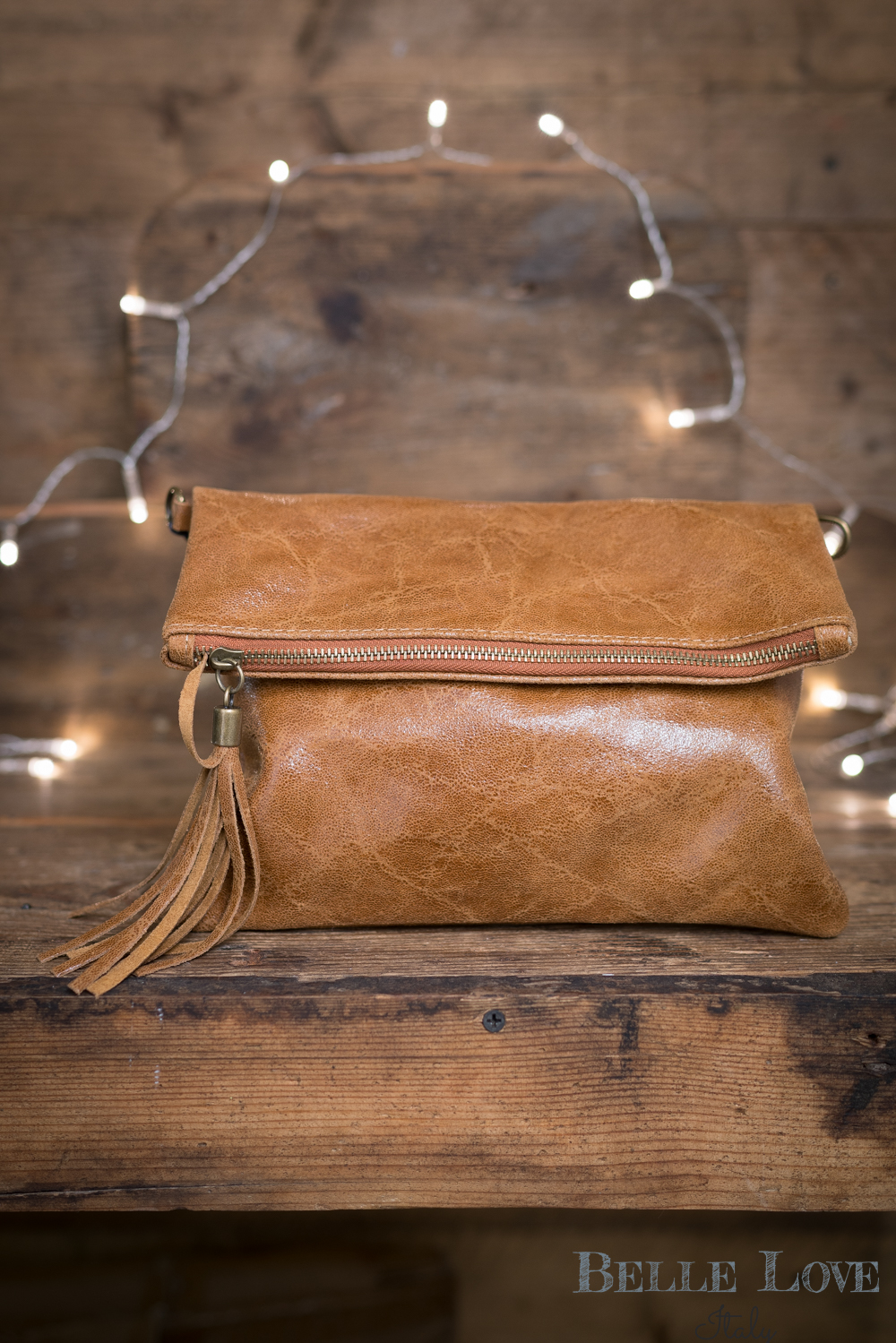Belle Love Italy Rustic Leather Clutch