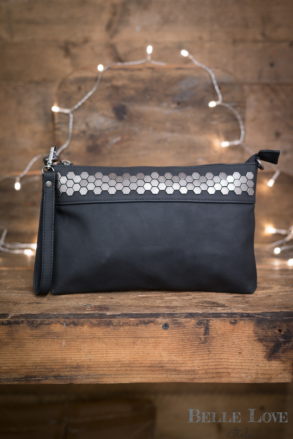 Belle Love Italy Raw Metal Clutch