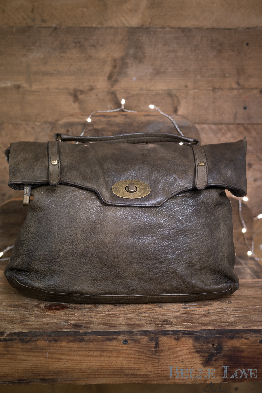 Belle Love Italy Natural Leather Bag