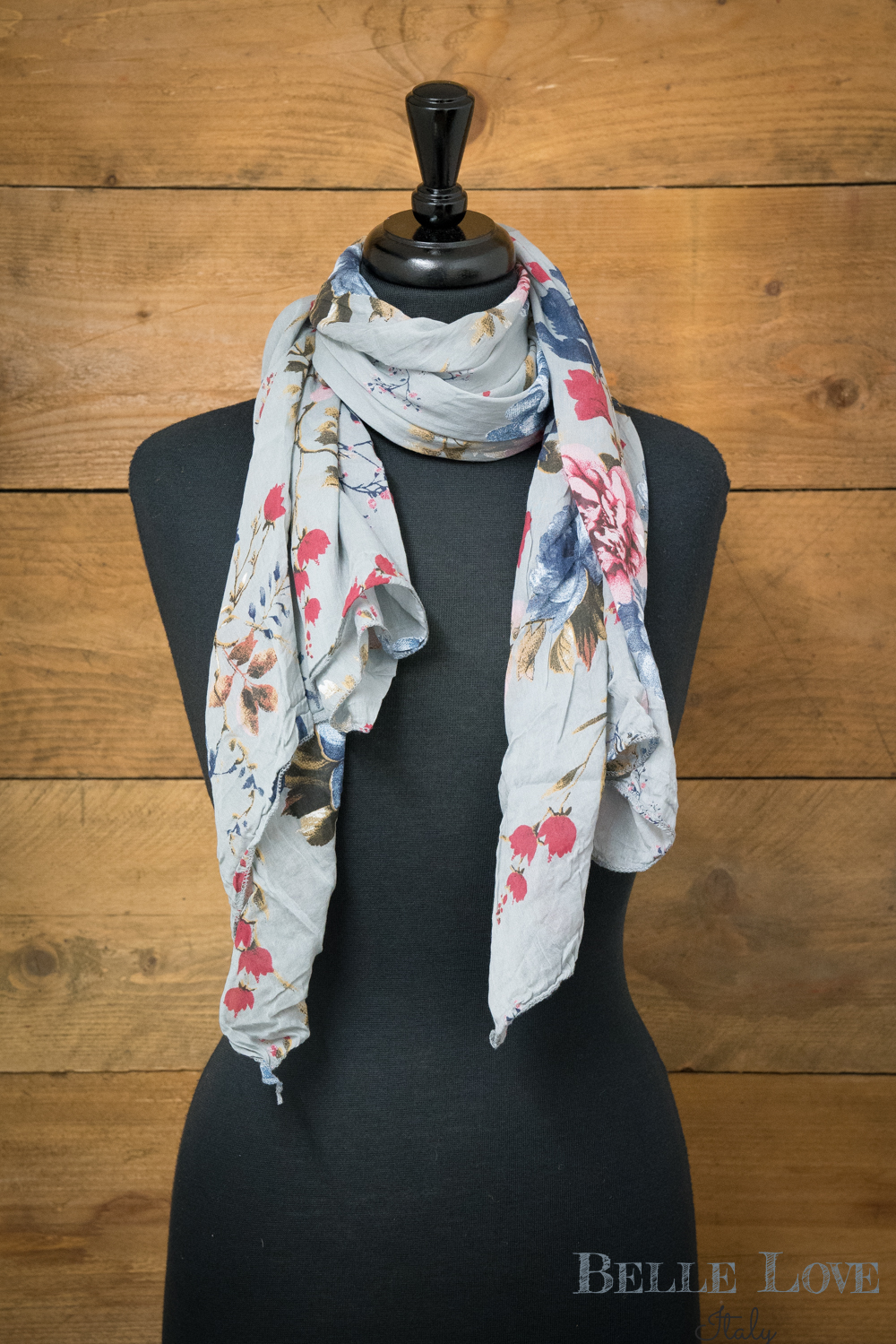 Belle Love Italy Blossom Meadow Silk mix Scarf