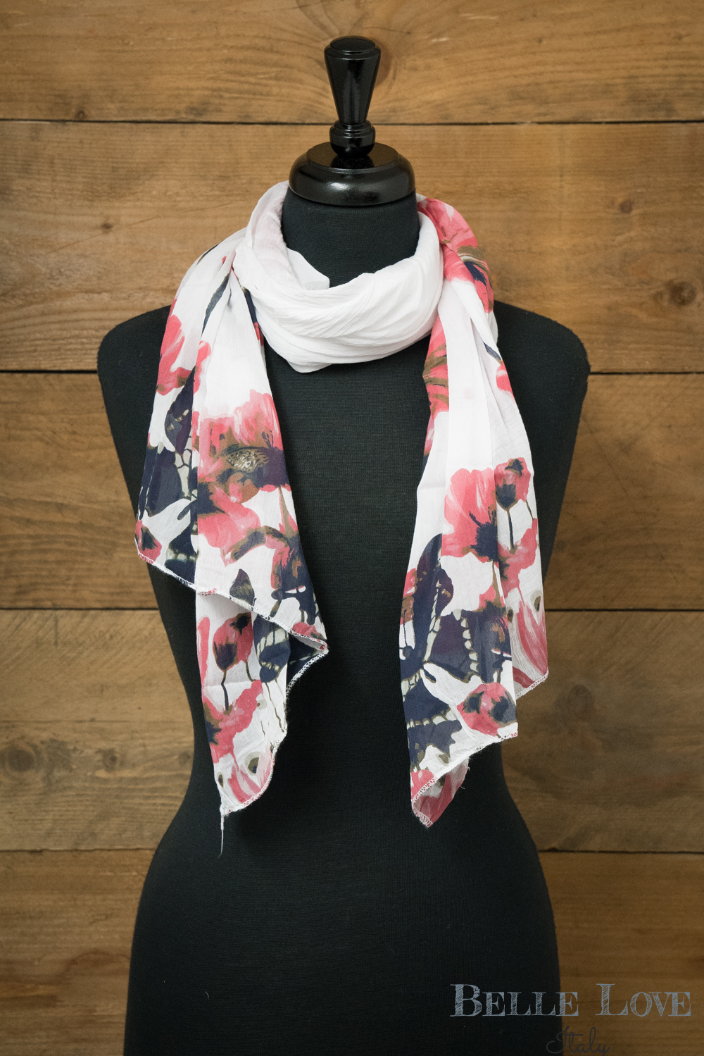 Belle Love Italy Butterfly Silk Mix Scarf