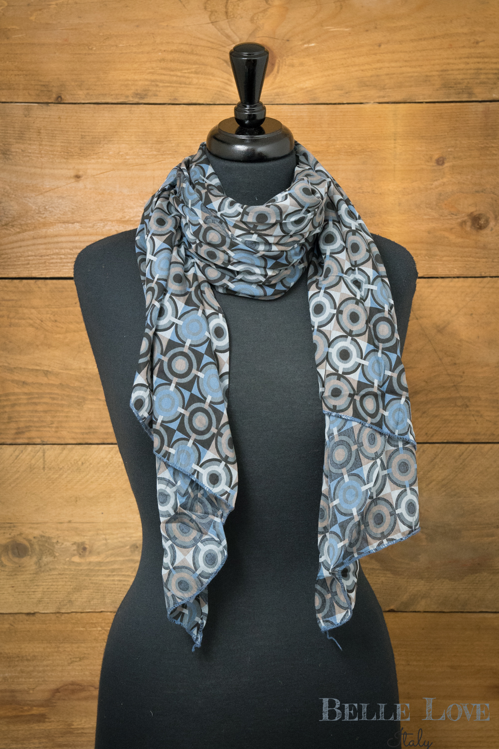 Belle Love Italy Retro Circle Silk Mix Scarf