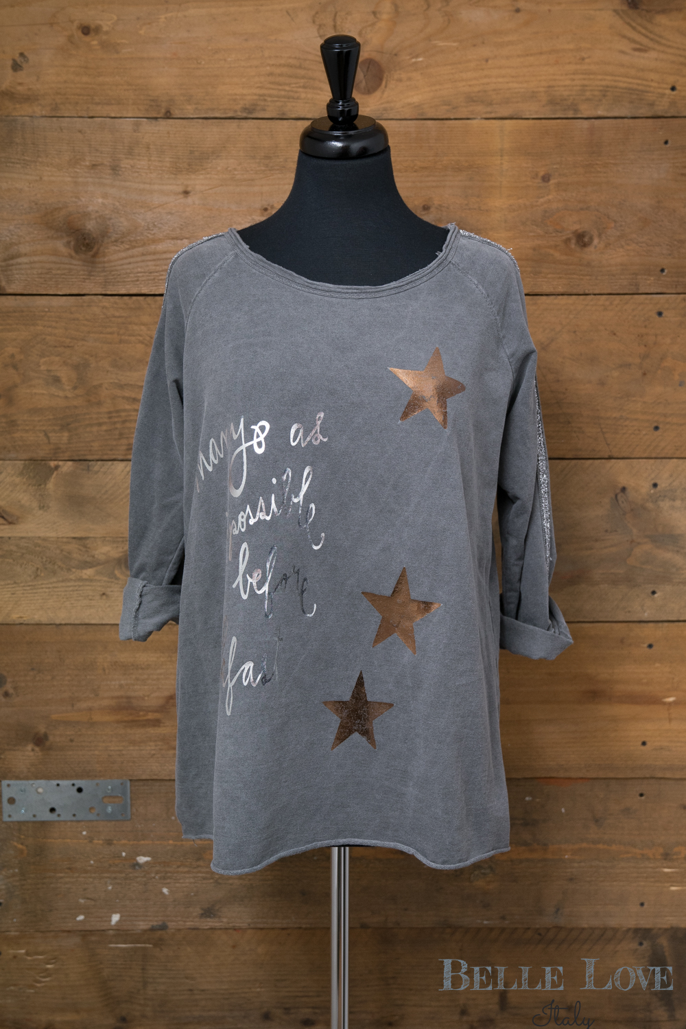 Belle Love Italy Foil Star Top