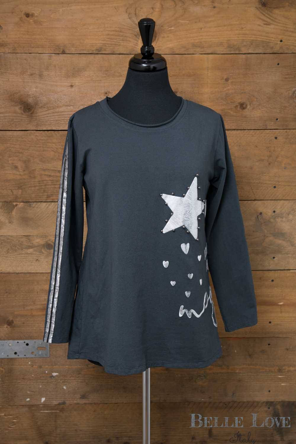 Belle Love Italy Star And Hearts Top