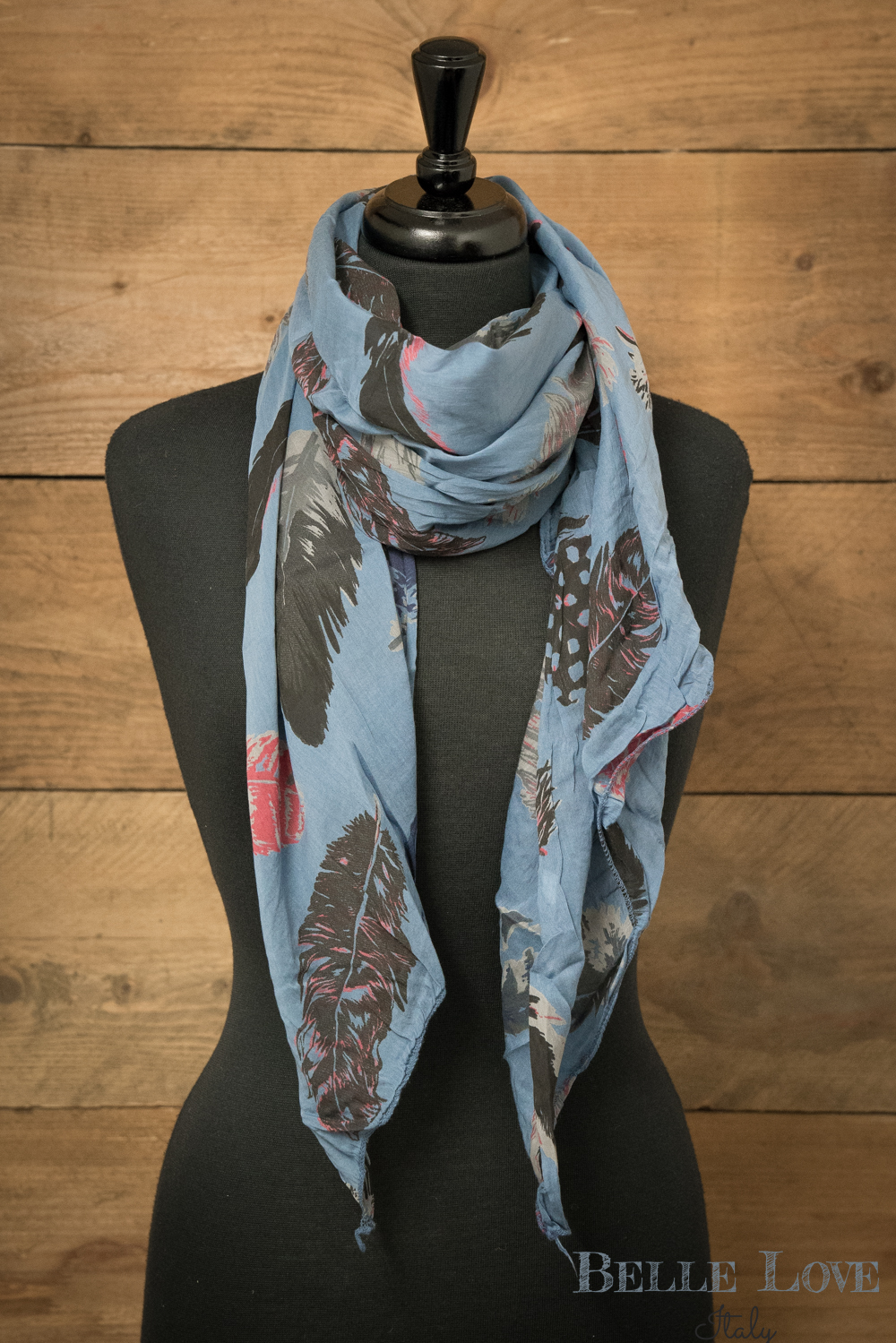 Belle Love Italy  Leaf Silk Mix Scarf