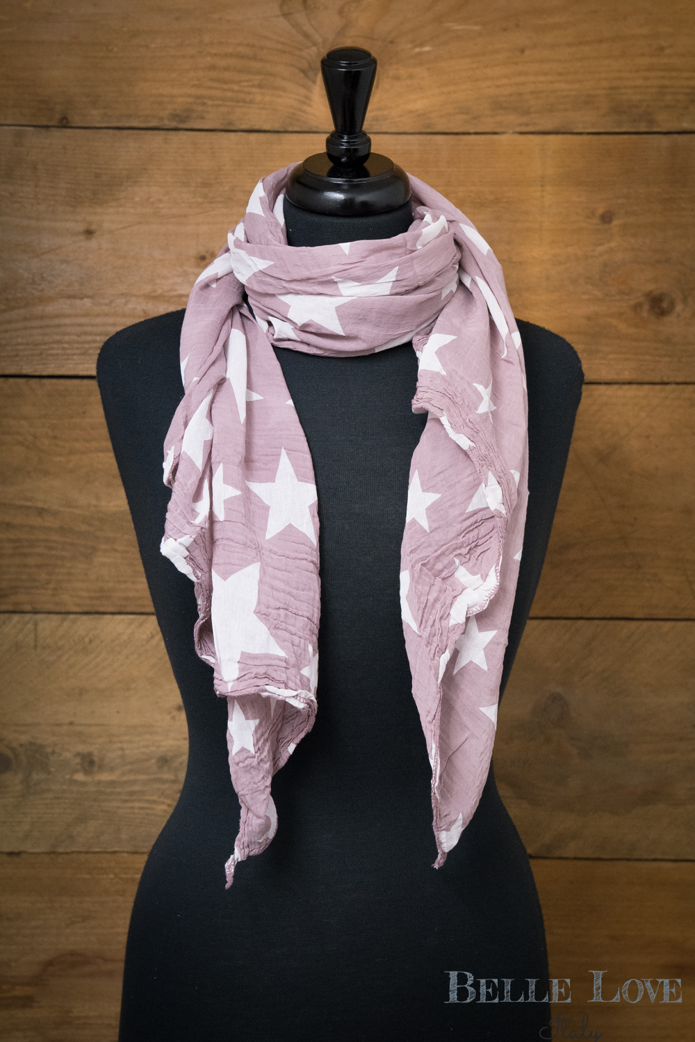 Belle Love Italy Big Star Silk Mix Scarf