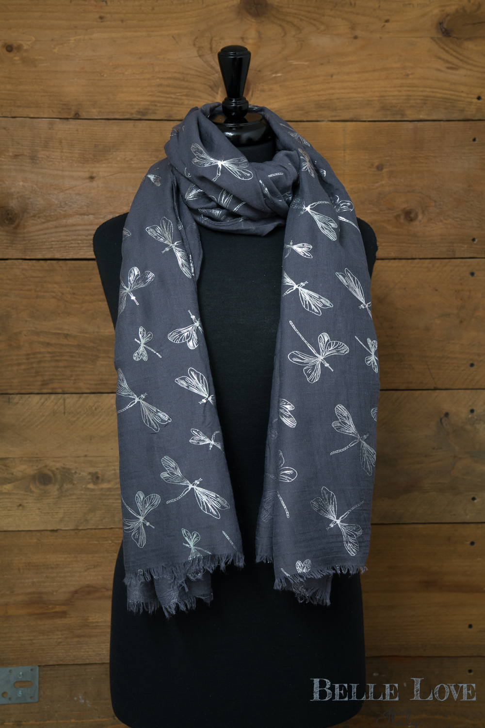 Belle Love Italy Glitter Dragonflies Scarf