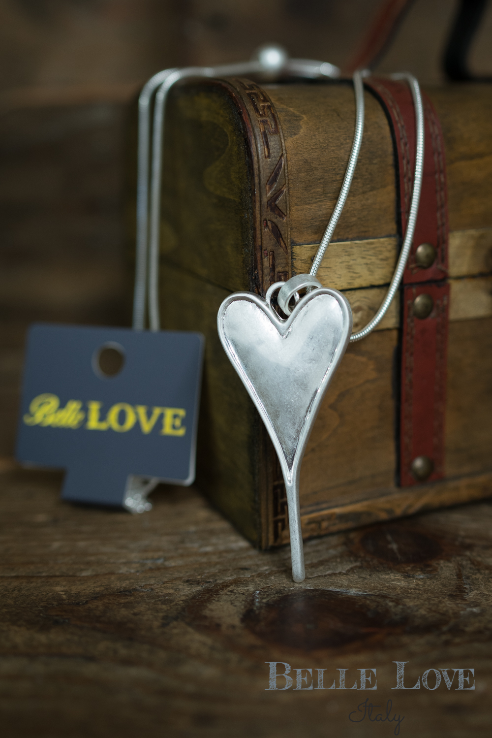 Belle Love Italy Classic Love Heart Necklace