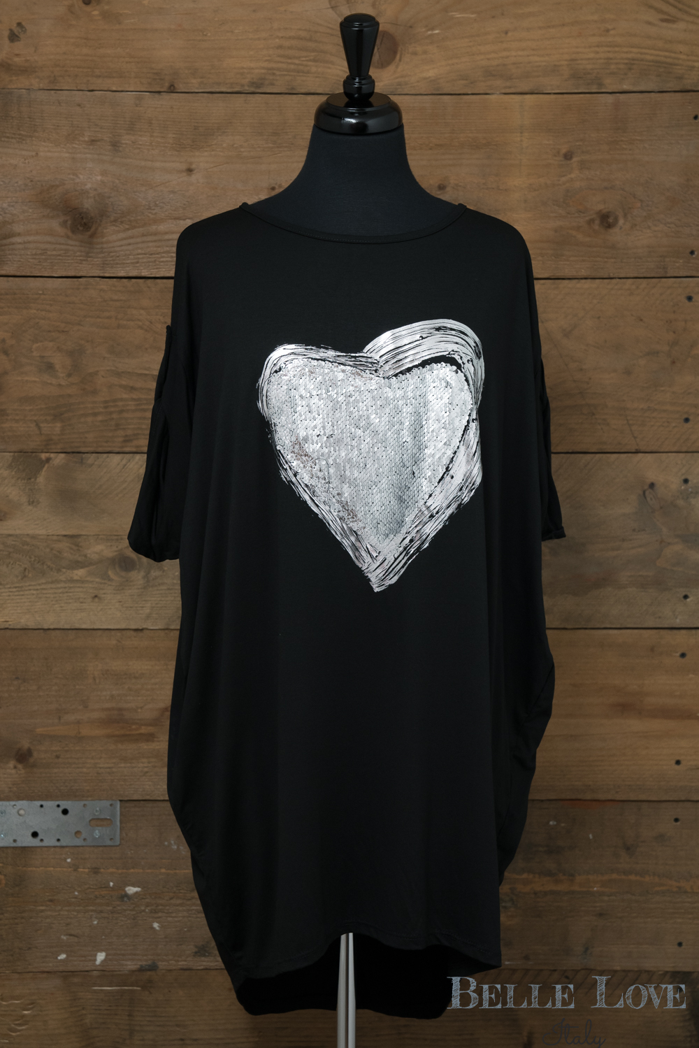 Belle Love Italy Love Heart Sequin Top