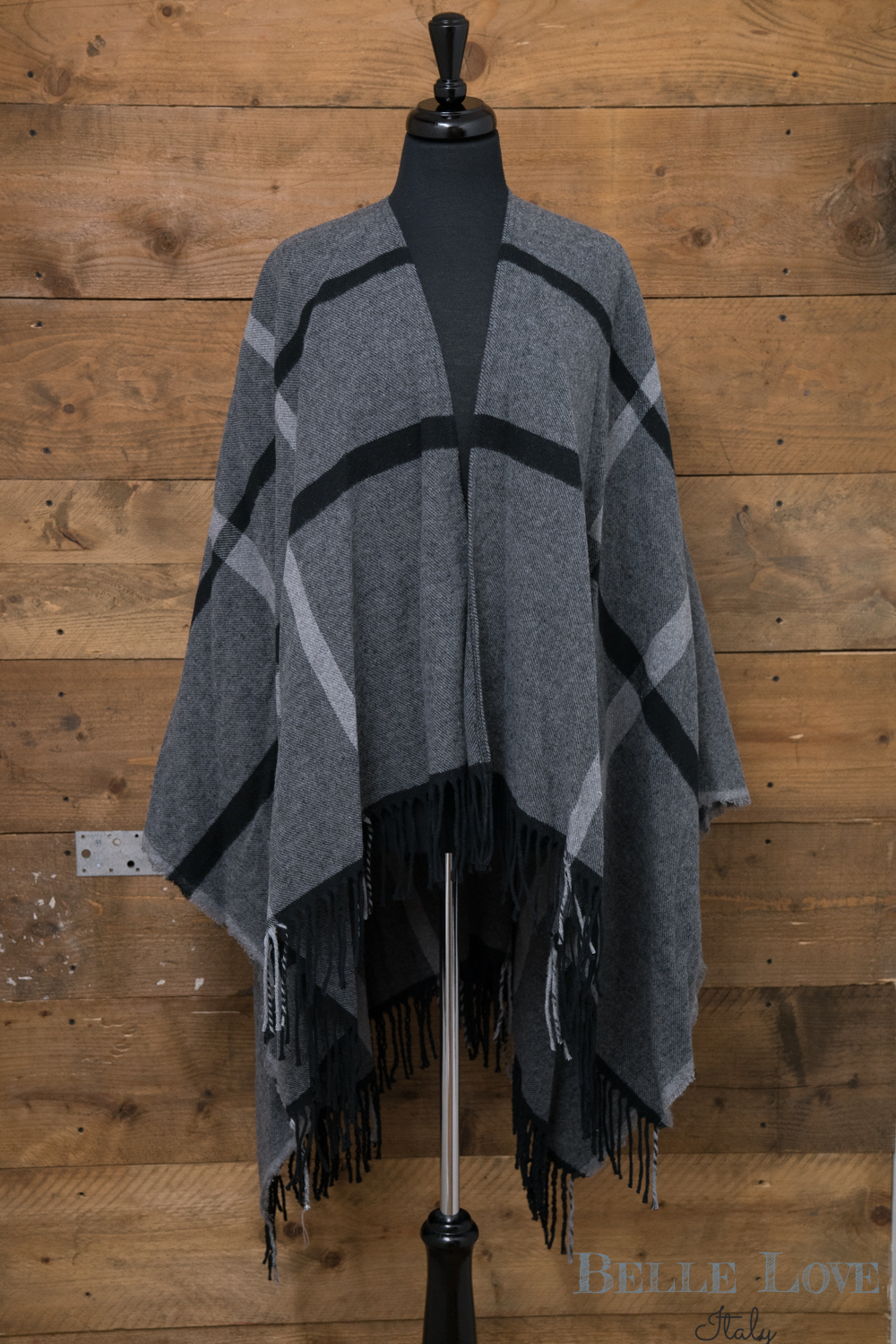Belle Love Italy Stylish Checked Wrap