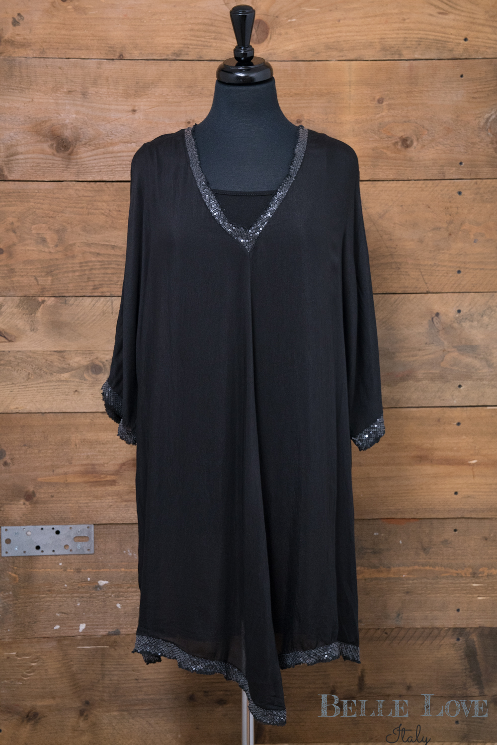 Belle Love Italy Lightweight Sequin Trim Top/Dress