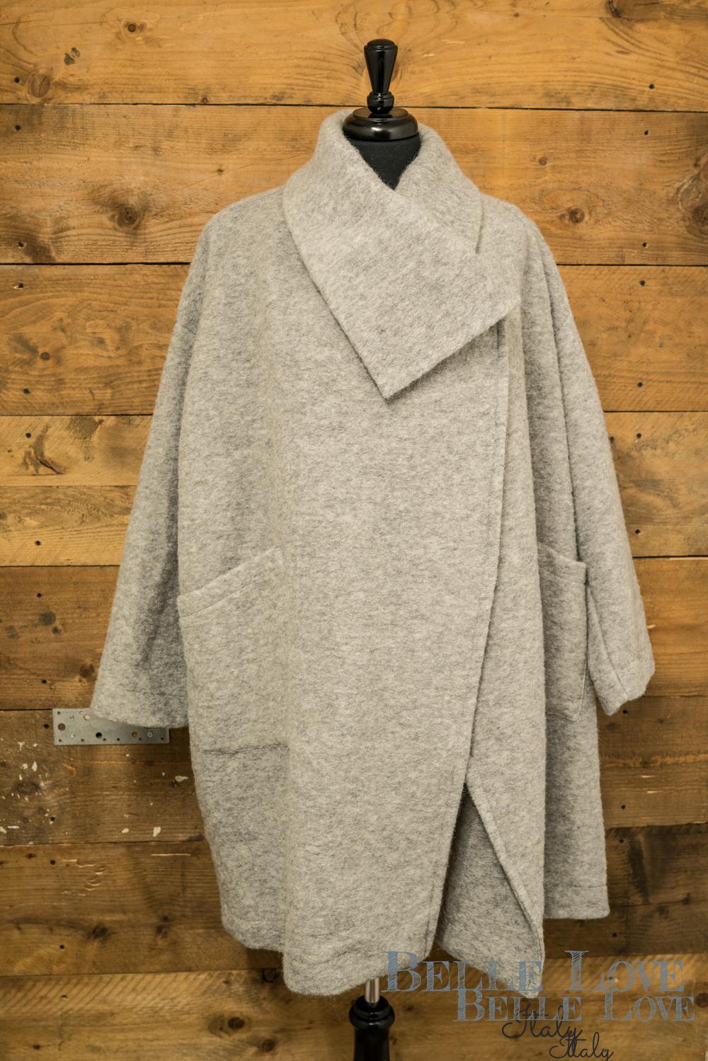 Belle Love Italy Modern Edge Wool Coat