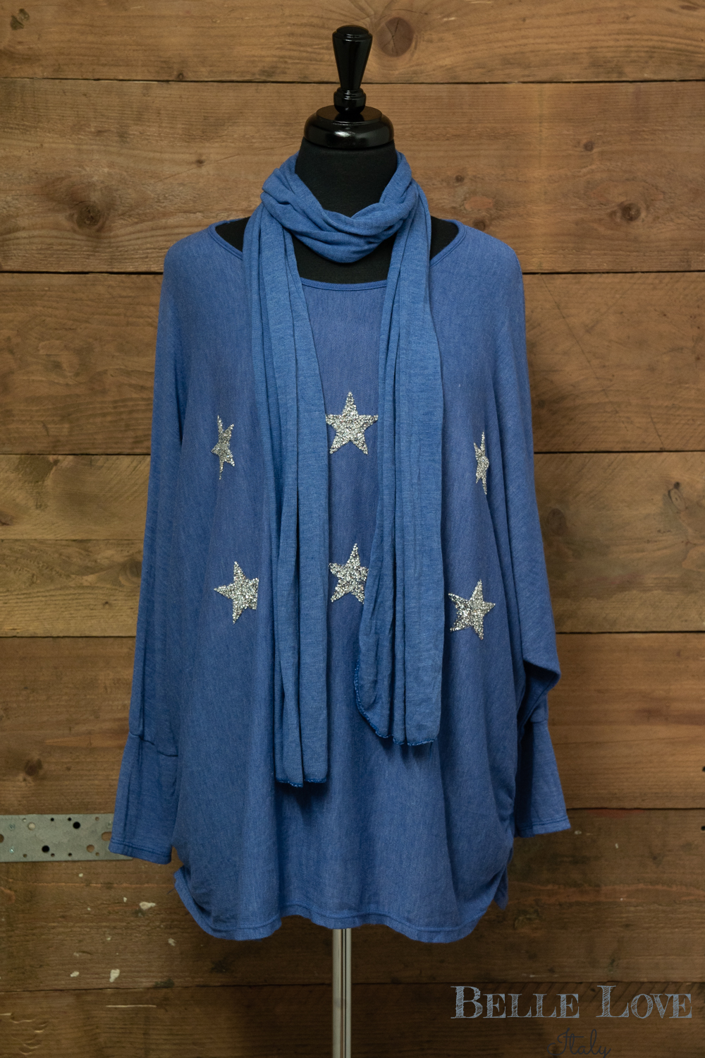 Belle Love Italy Silver Star Tunic
