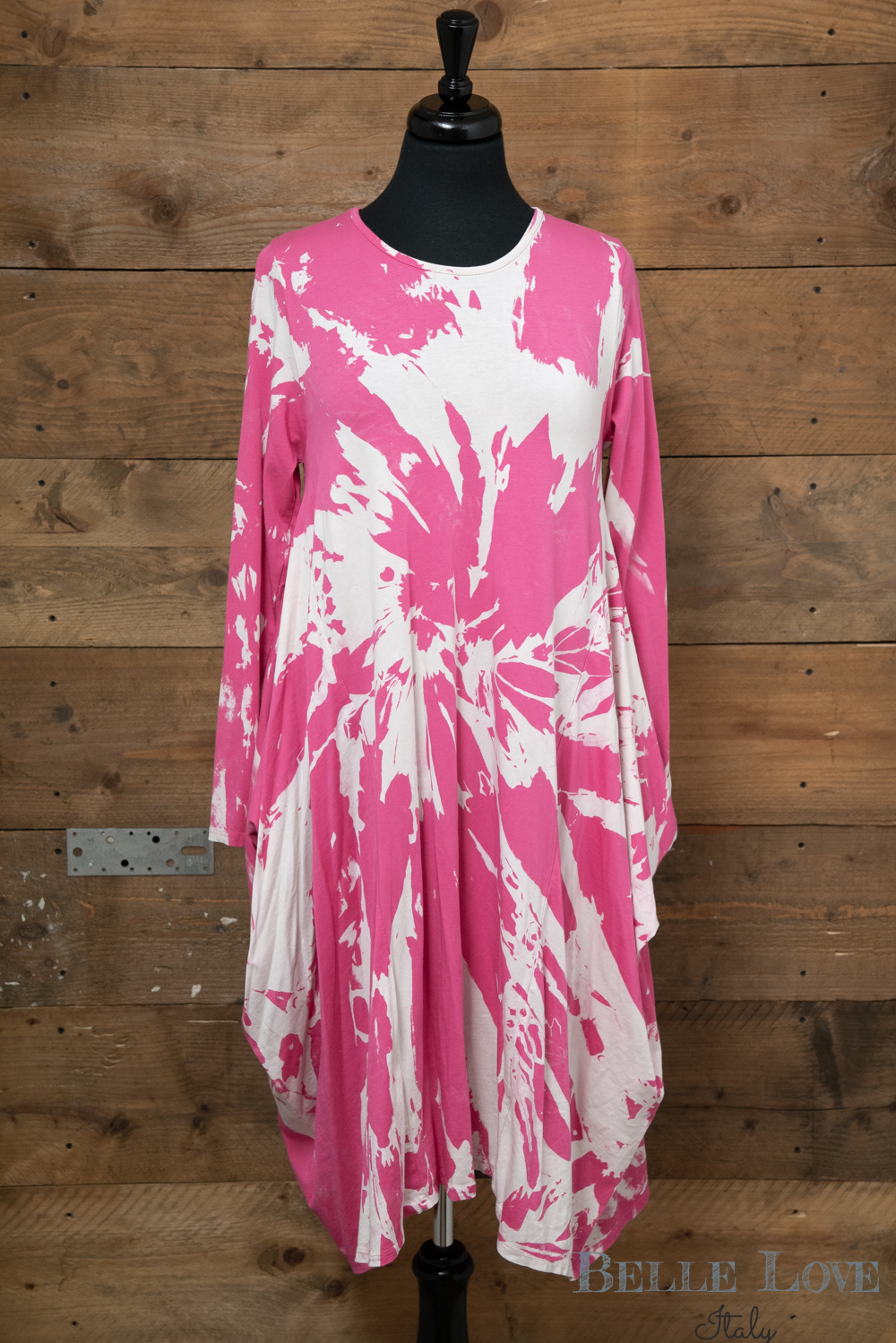 Belle Love Italy Tie-Dye Print Dress