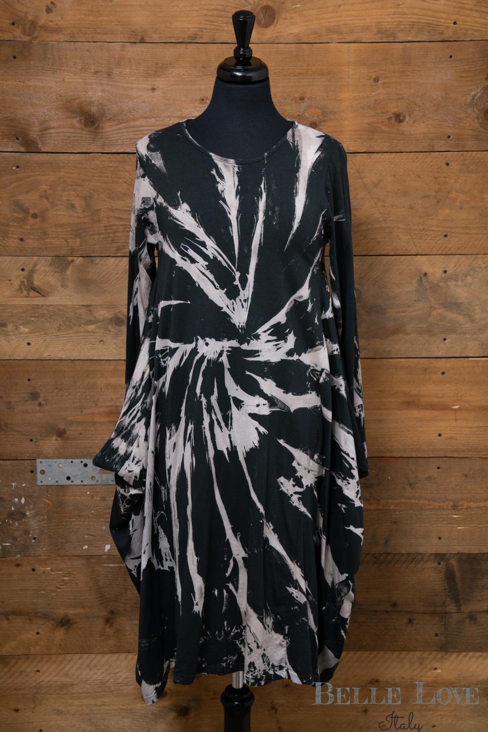 Belle Love Italy Tie-Dye Print Dress