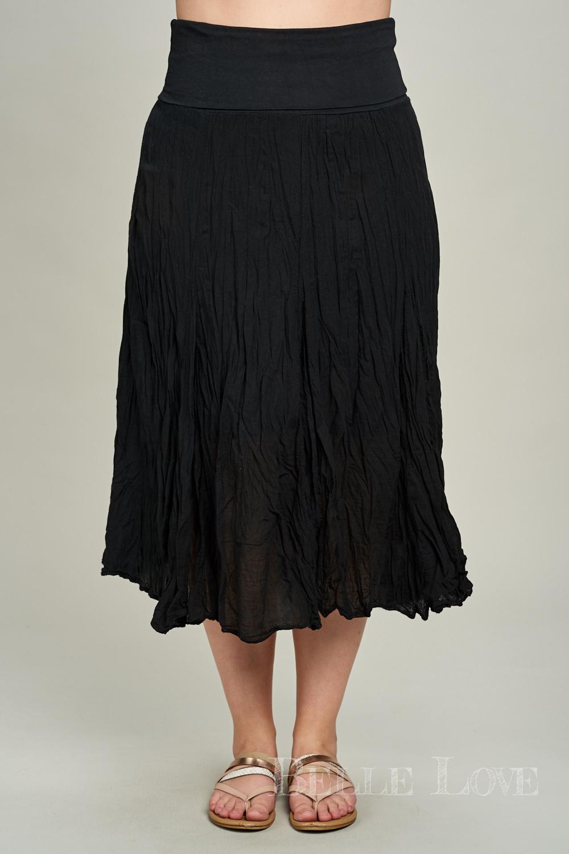 Belle Love Italy Crinkled Cotton Skirt
