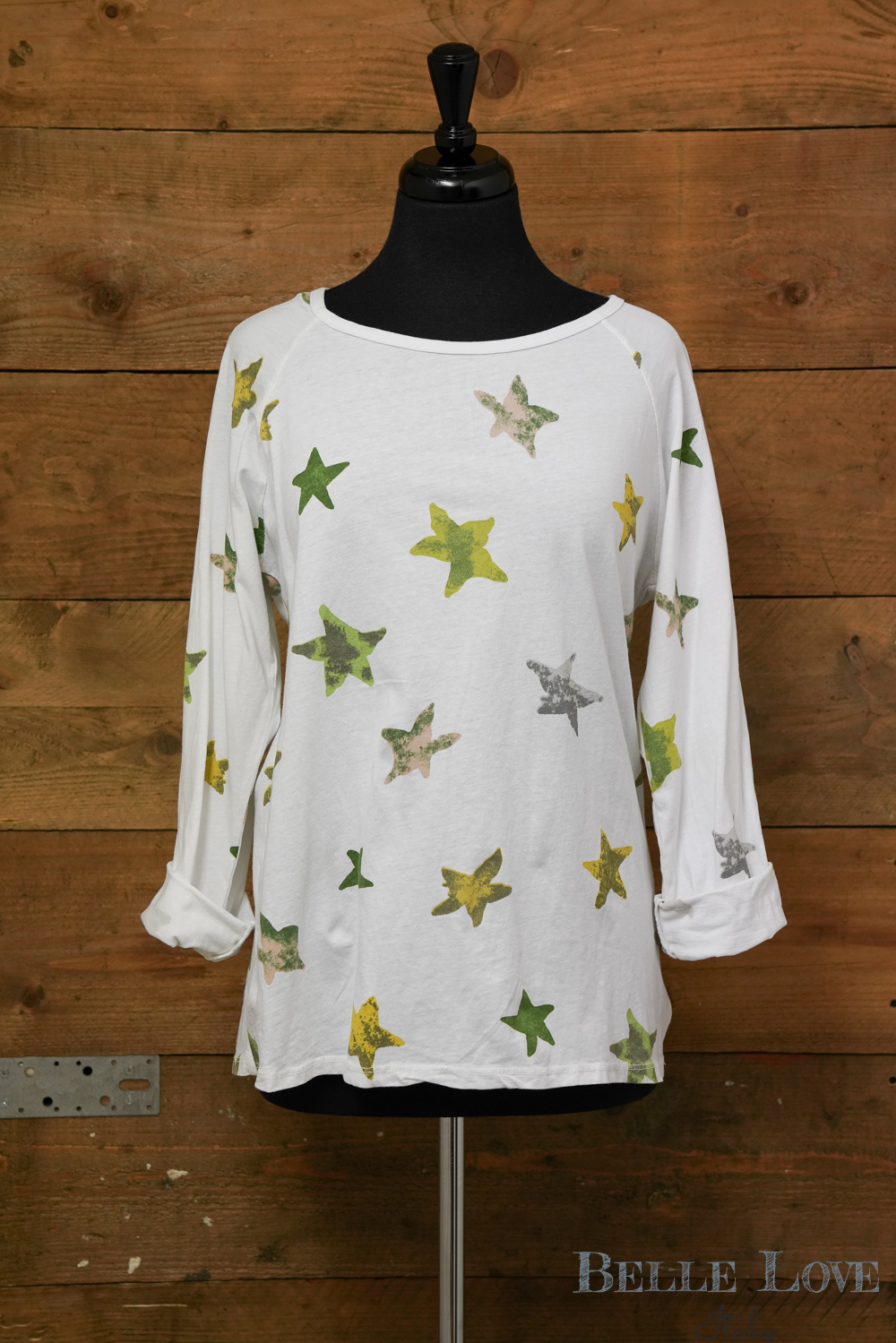 Belle Love Italy All Over Star Top