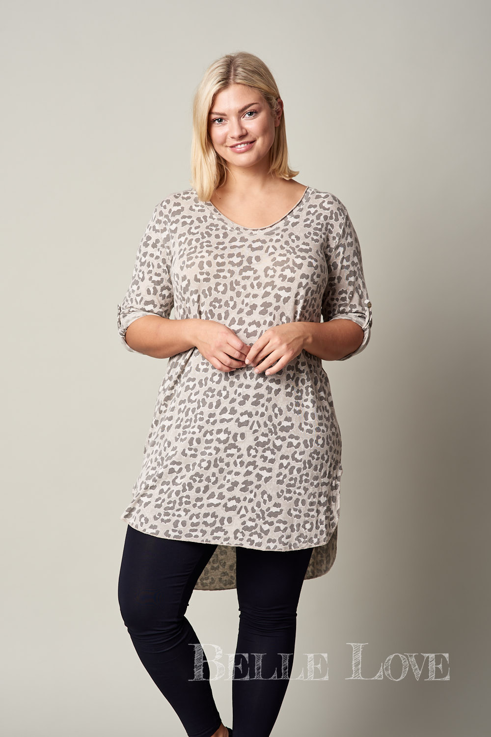 Belle Love Italy Casual Leopard Print Top
