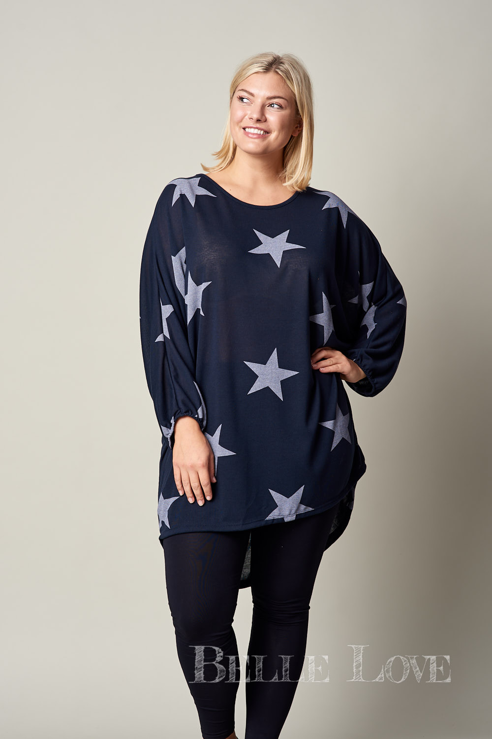 Belle Love Italy Statement Star Casual Tunic