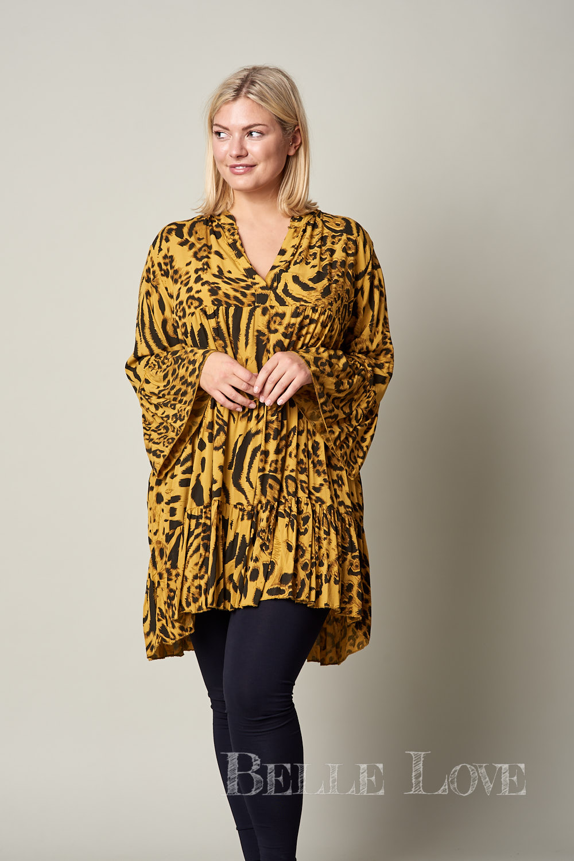 Belle love Italy Animal Print Smock Dress