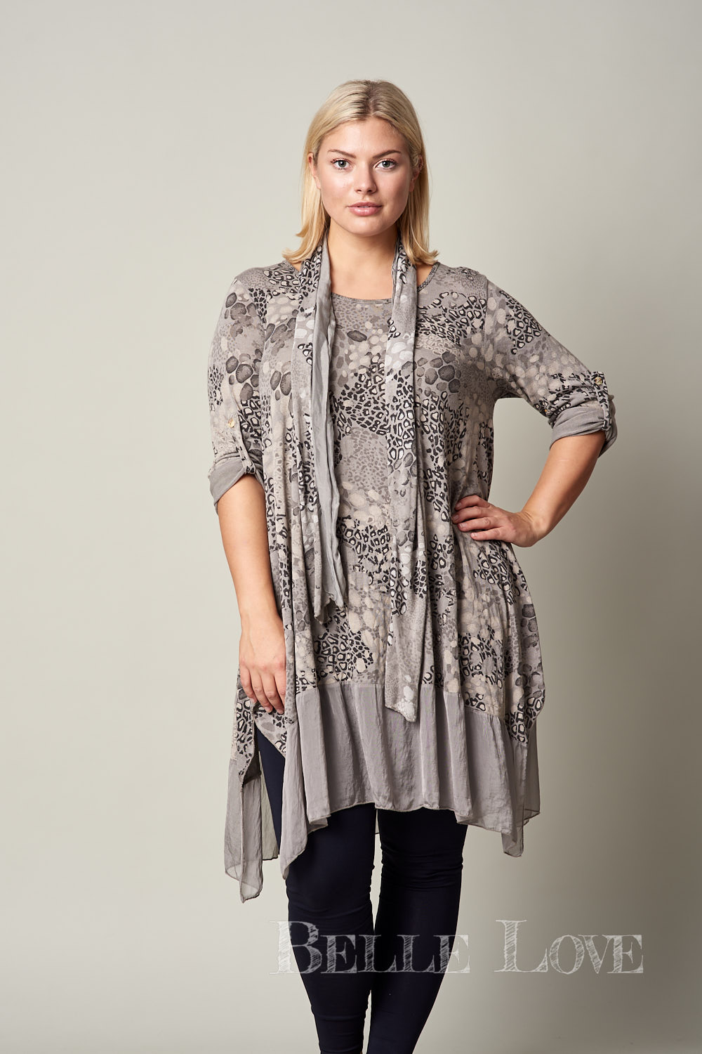 Belle Love Italy Two Piece Animal Print Tunic