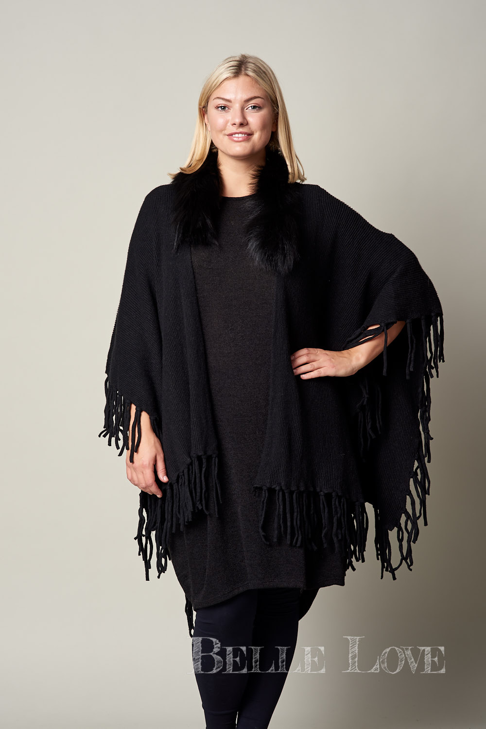 Belle Love Italy Padstow Fur Shawl