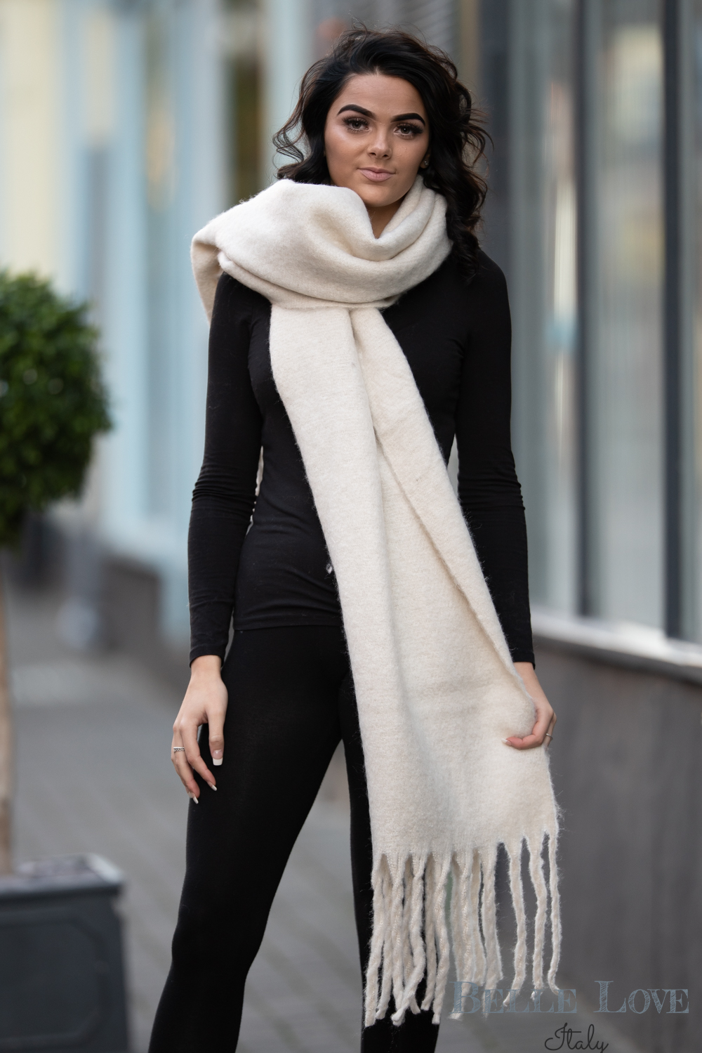 Belle Love Italy Chunky Wool Scarf
