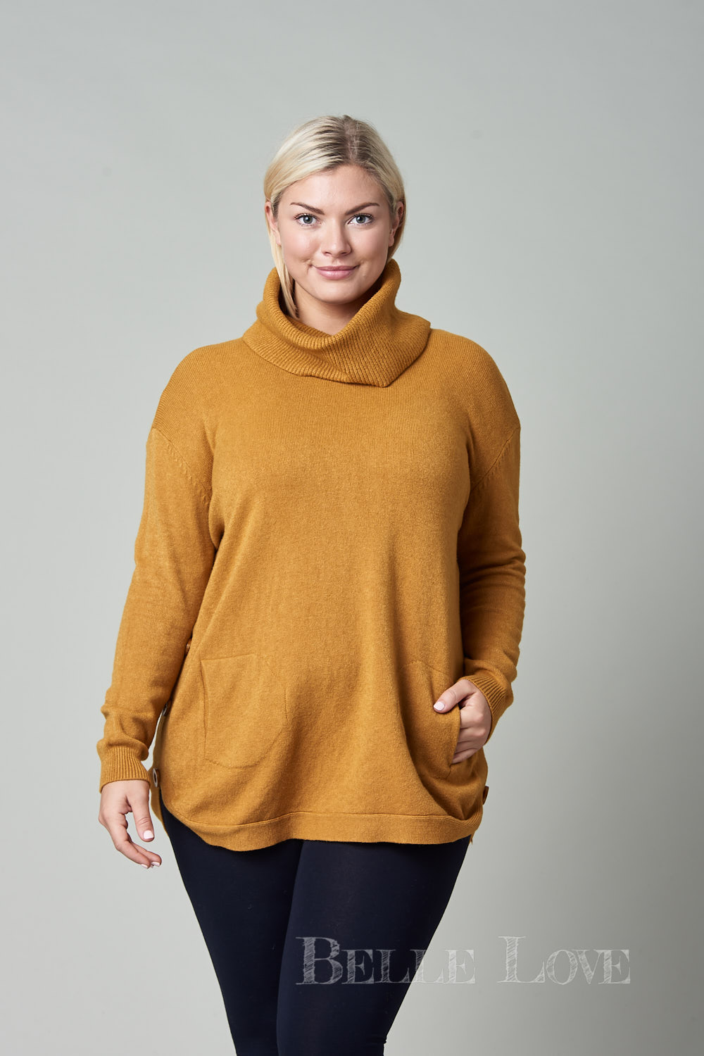 Belle Love Italy Marino Roll Neck Jumper