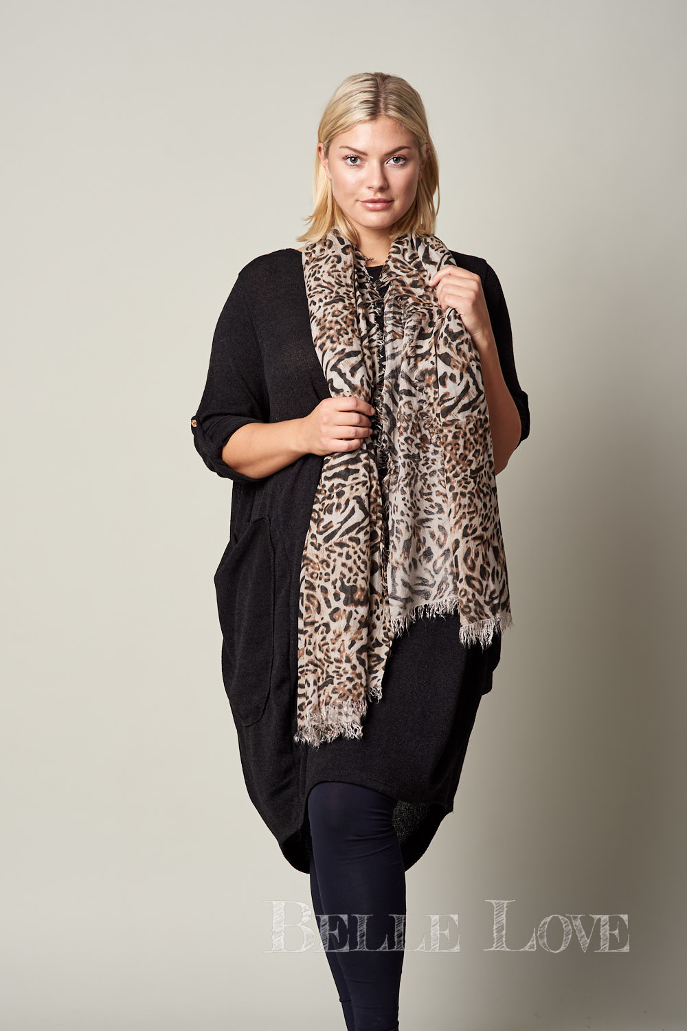 Belle Love Italy Animal Print Scarf