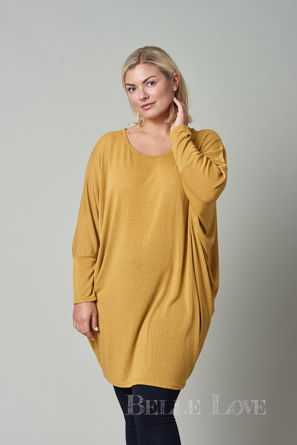 Belle Love Italy Basic Slouch Top