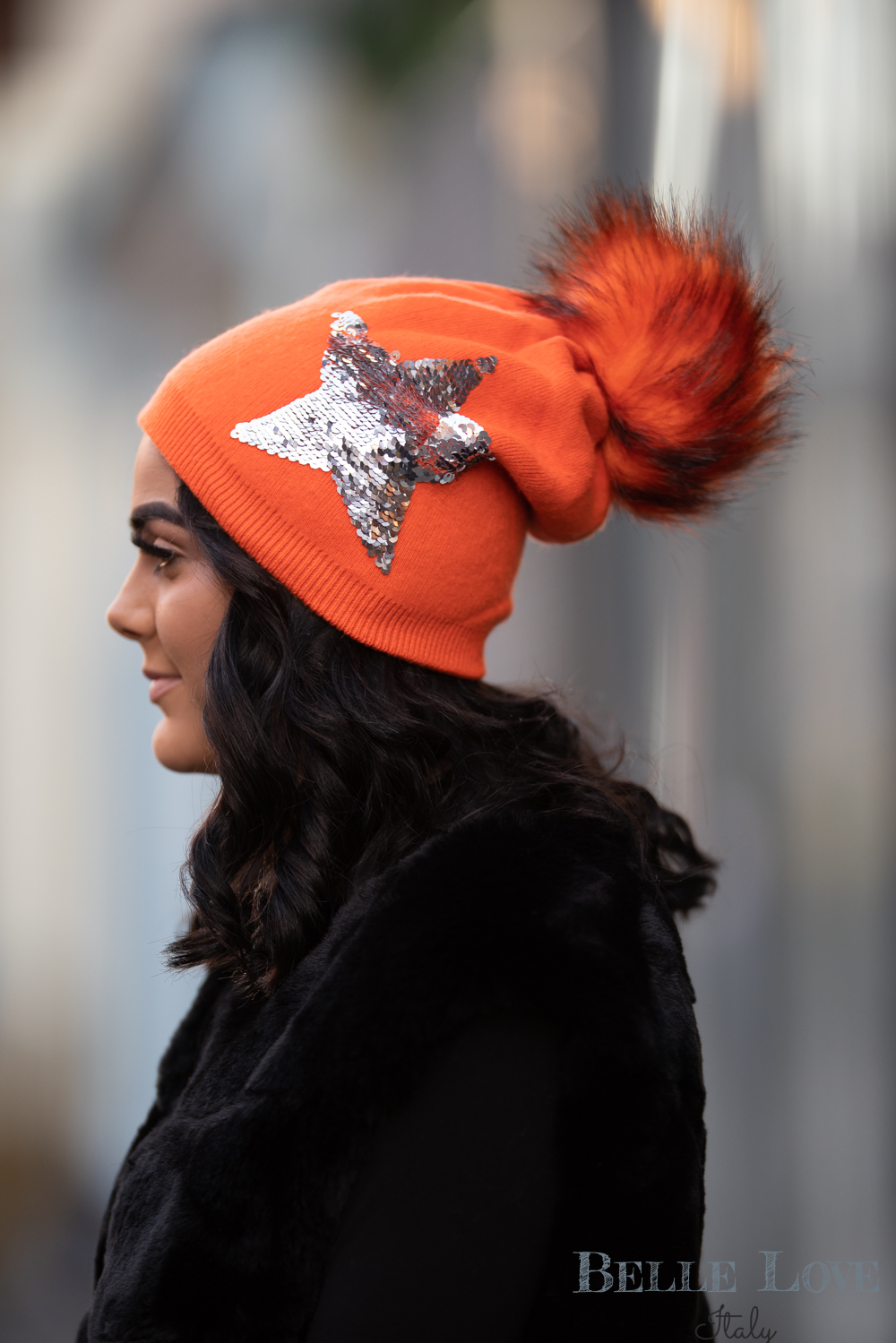 Belle Love Italy Cashmere Mix Star Hat