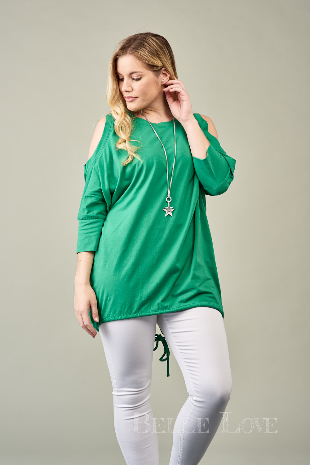 Belle Love Italy Cold Shoulder Basic Top