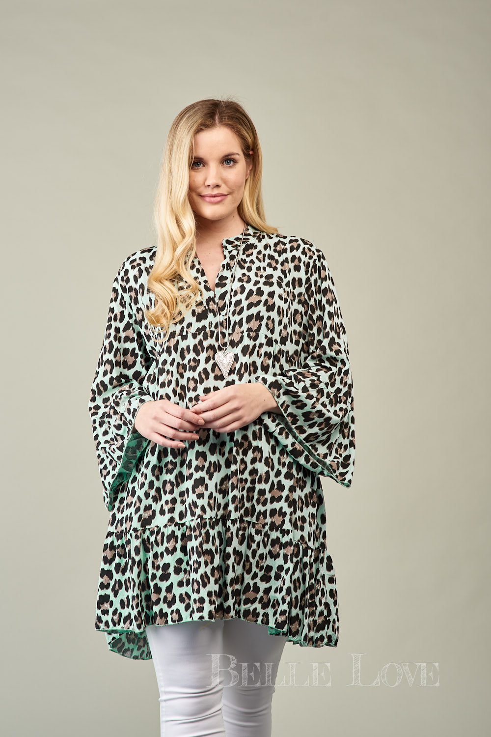 Belle Love Italy Vibrant Leopard Print Smock Dress/Top