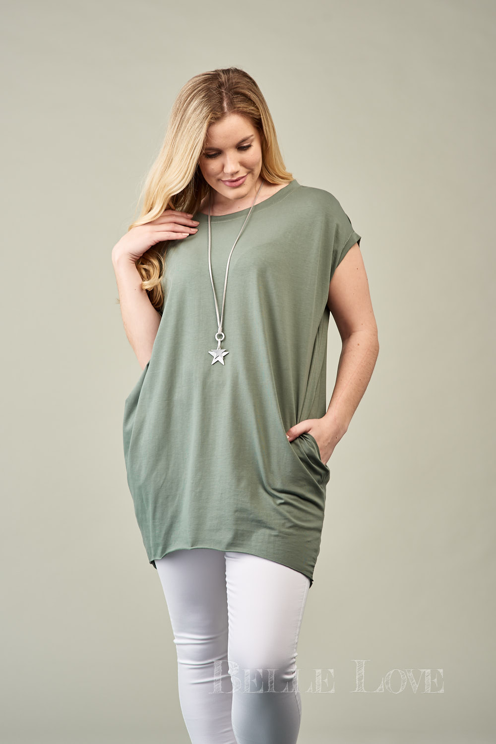 Belle Love Italy Plain Slouch Top