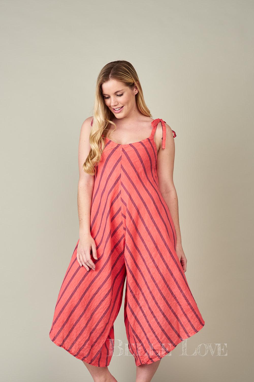 Belle Love Italy Sierra Stripe Linen Jumpsuit