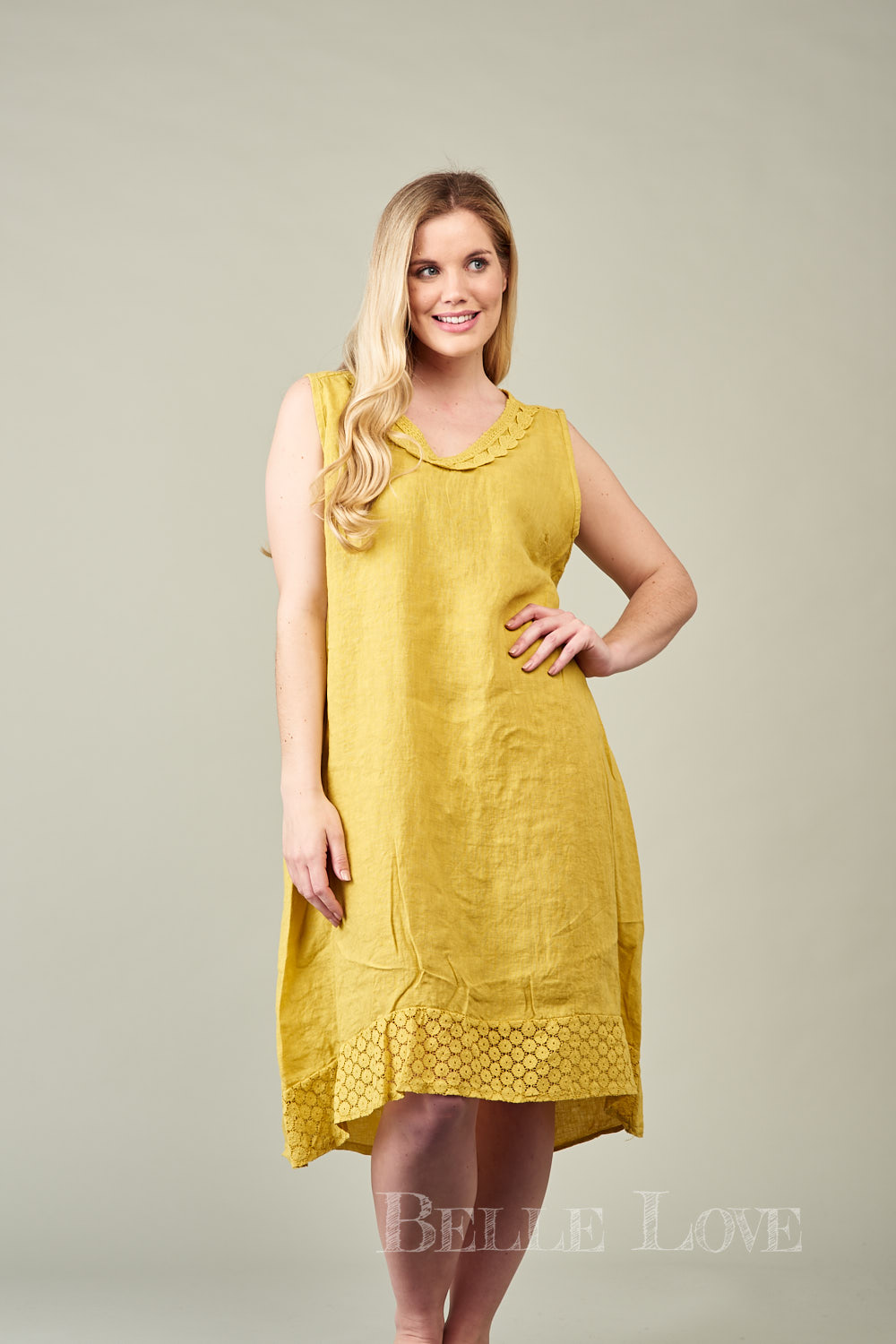 Belle Love Italy Rosalie Linen Dress