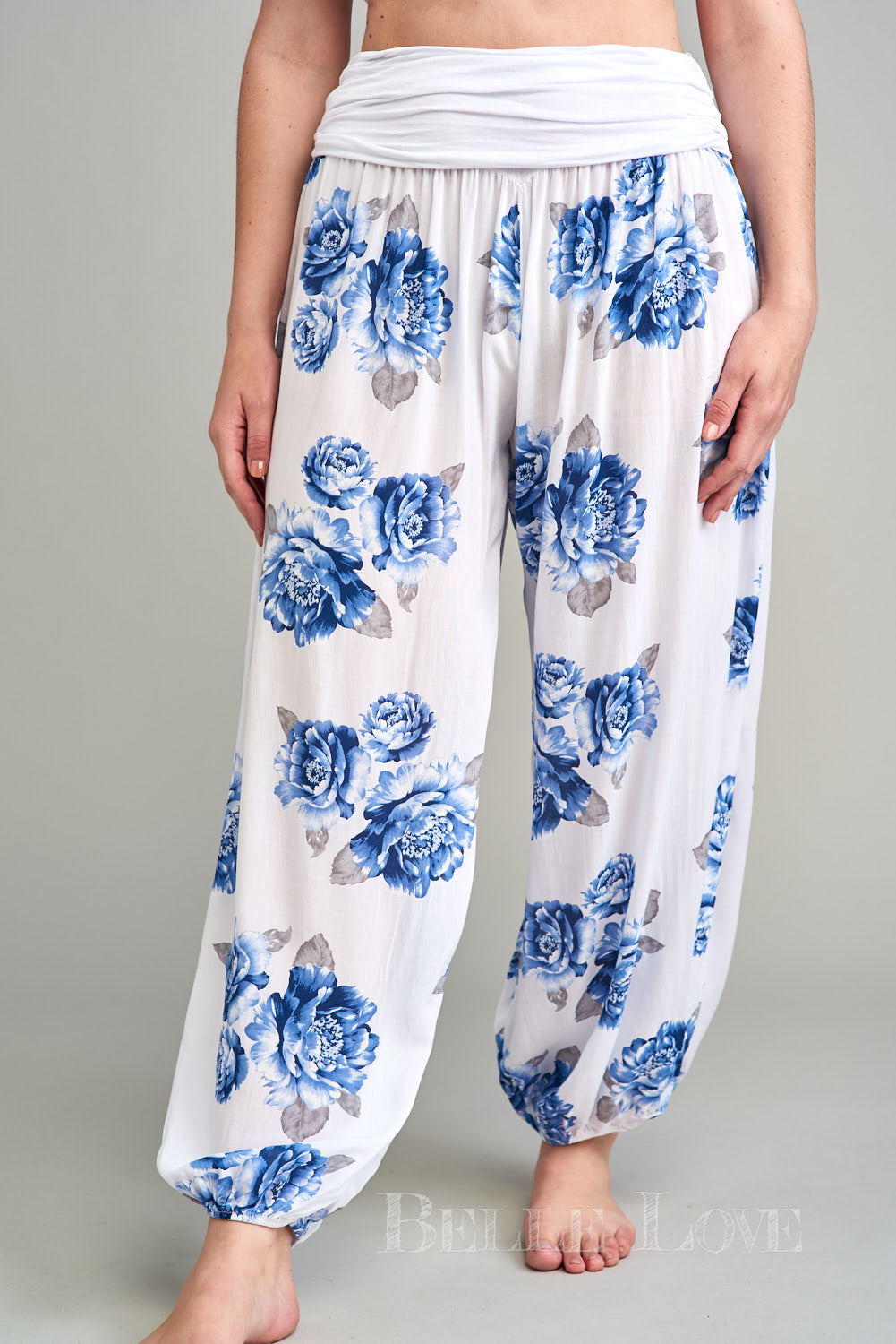 Belle Love Italy Floral Harem Trousers