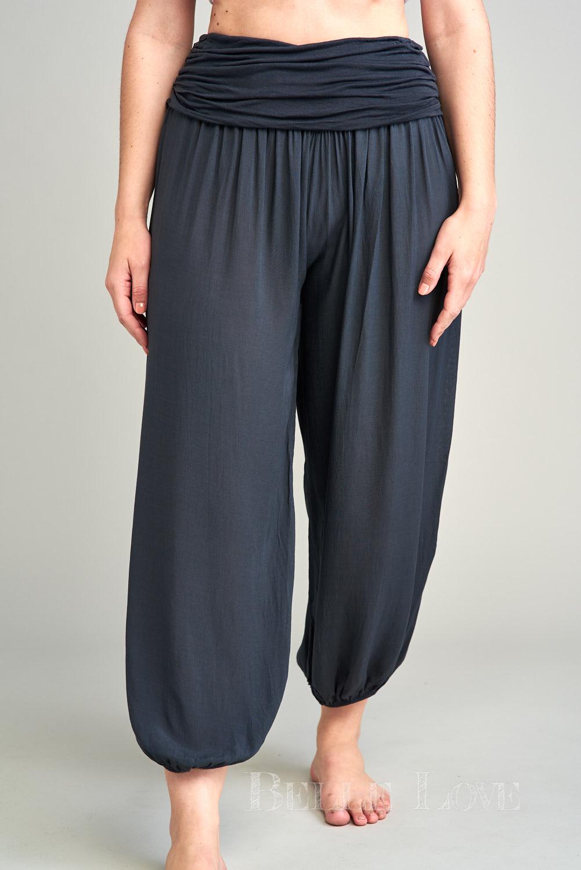 Belle Love Italy Plain Harem Trousers