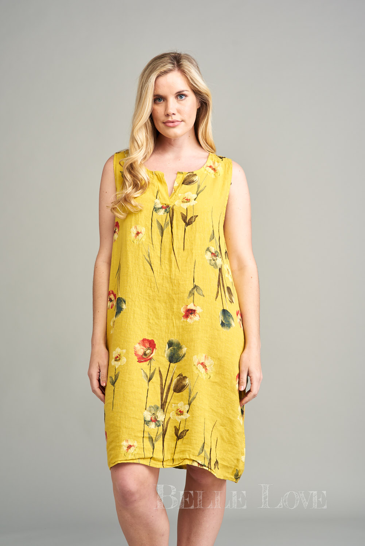 Belle Love Italy Neve Sleeveless Linen Dress