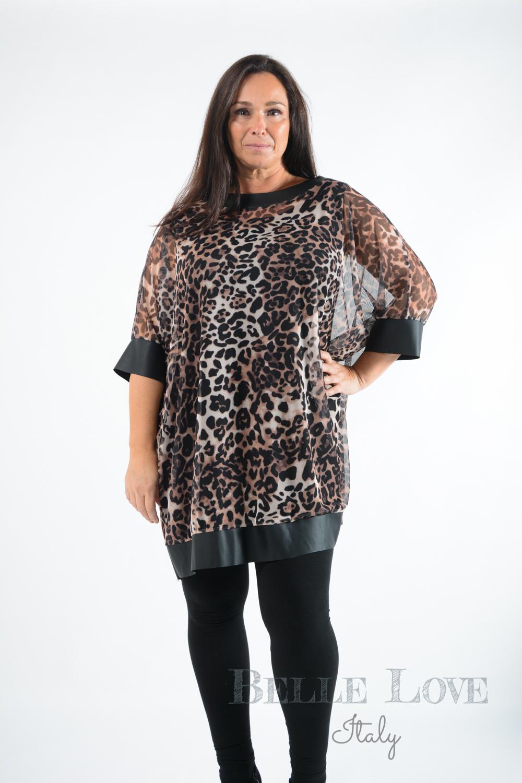 Belle Love Italy Sara Leopard Print Tunic