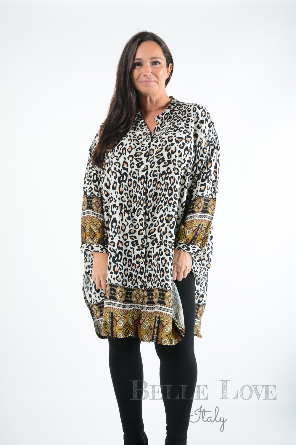Belle Love Italy Kendall Leopard Print Shirt