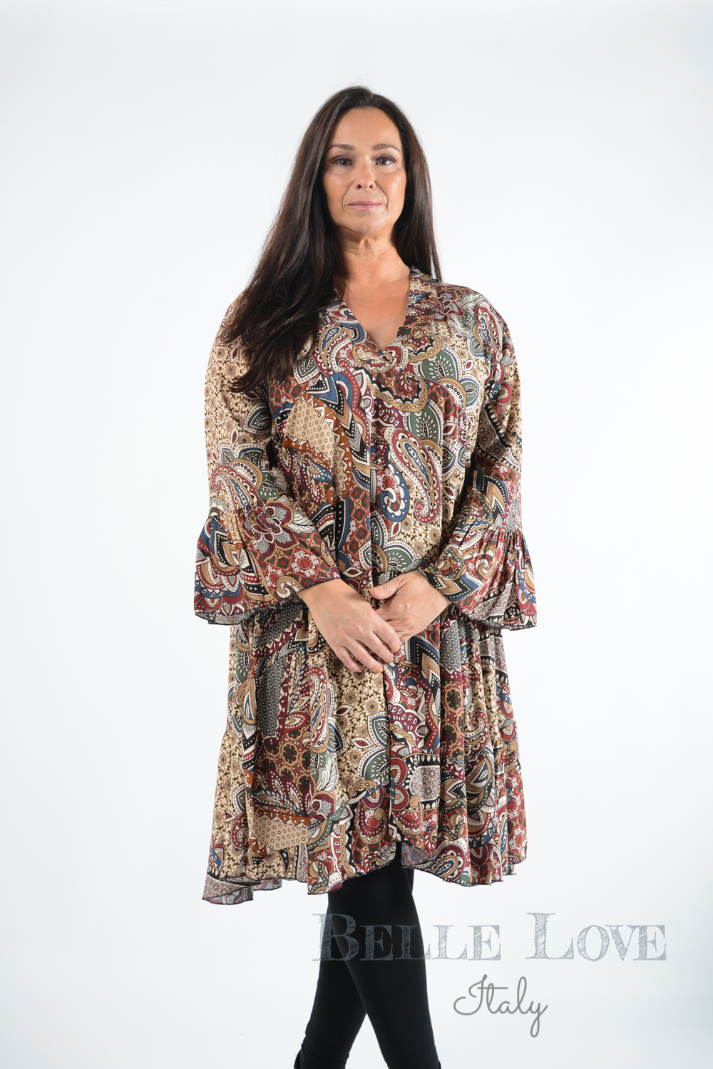 Belle Love Italy Paisley Smock Dress