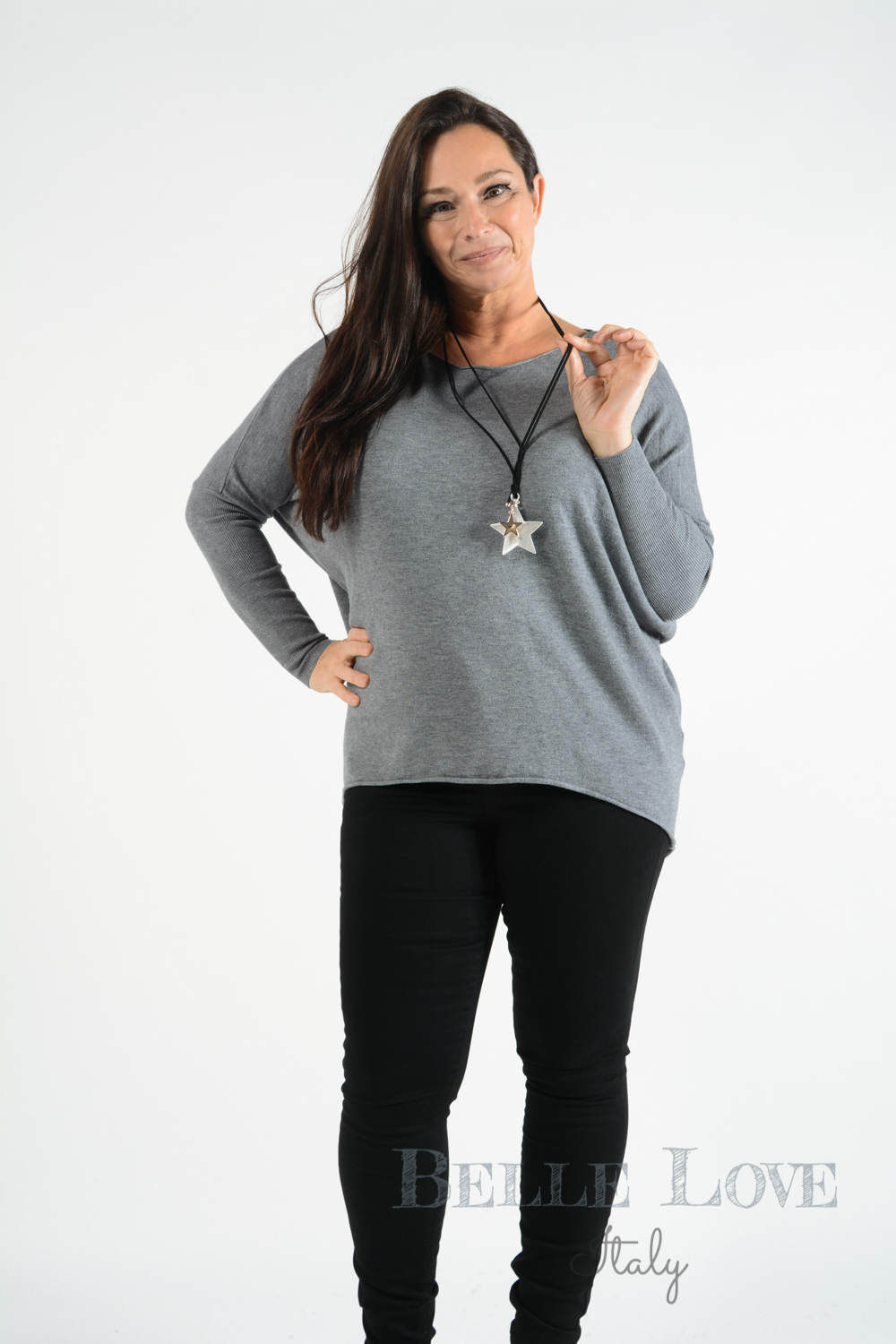 Belle Love Italy Ribbed Back Star Jumper