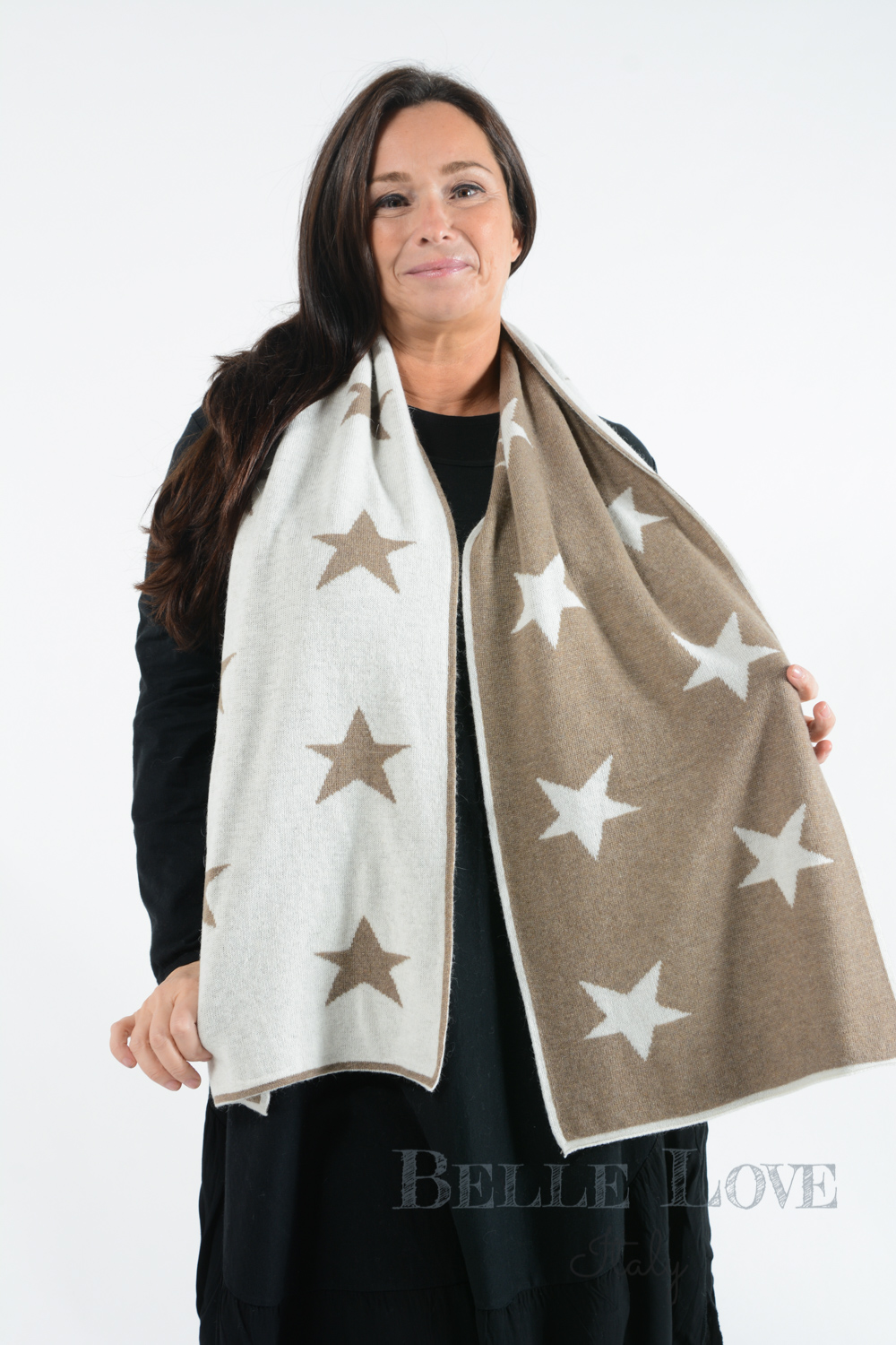 Belle Love Italy Luxury Mix Star Scarf