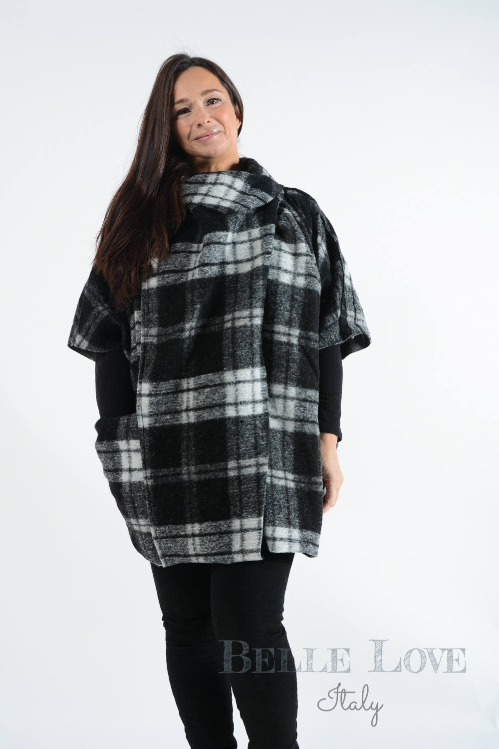 Belle Love Italy Winchester Checked Coat